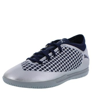 Puma Turnschuhe Future 2.4 IT Jr. silver peacoat silber blau