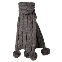 Barts Cable Scarf Schal Kids heather brown braun