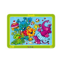 Lutz Mauder Puzzle 20 teilig Monsterparty Rahmenpuzzle