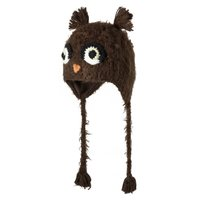 Barts Growly Inka Tiermütze heather brown braun 47 cm