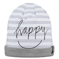 Barts Slinky Beanie Mütze heather grey weiss gestreift Happy