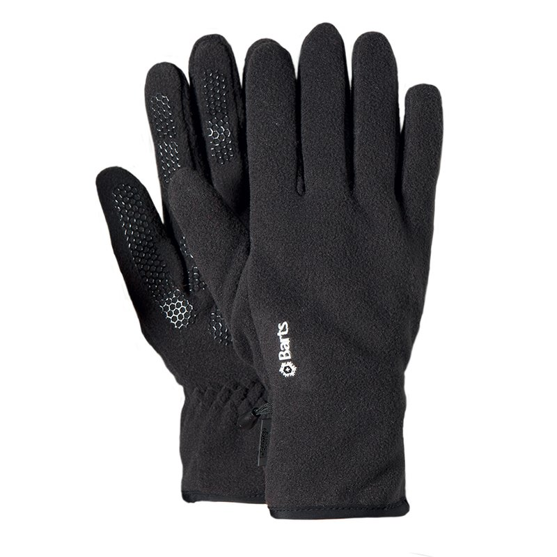Barts Fleece Gloves Fingerhandschuhe black schwarz