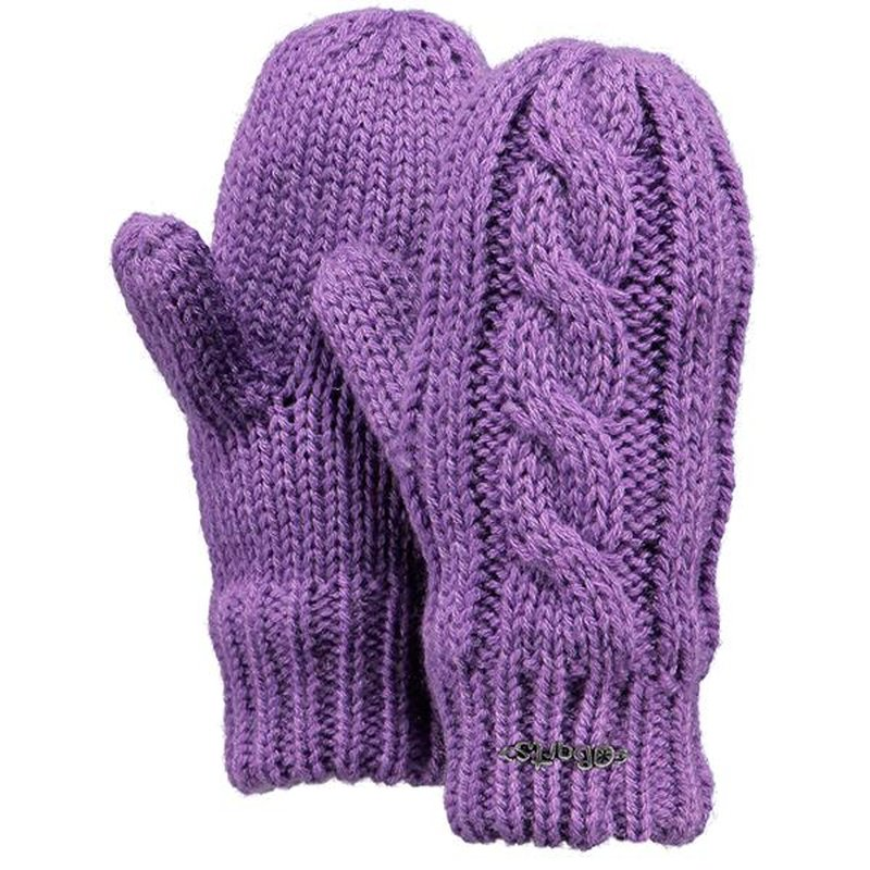 Barts Cable Mitts Handschuhe Kids lilac flieder