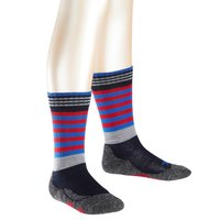 Falke Socken warm and dry blau rot gestreift