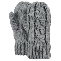 Barts Cable Mitts Handschuhe Kids heather grey grau