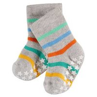 Falke Stoppersocken Catspads grau orange bunt gestreift