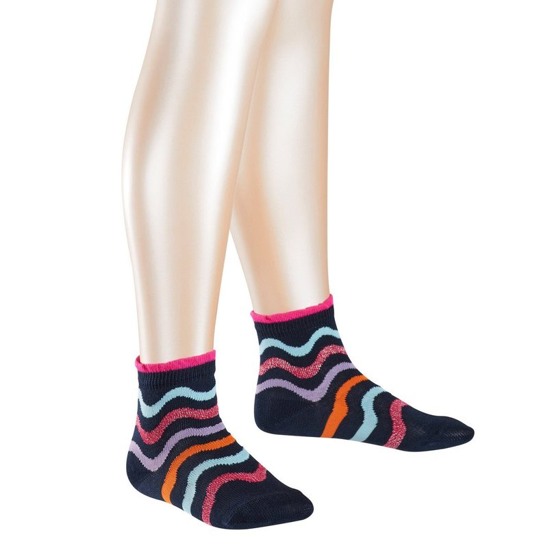 Falke Socken Wave Stripe marine gestreift