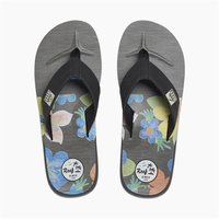 Reef Zehenstegsandalen Men HT Prints 70` Floral anthrazit