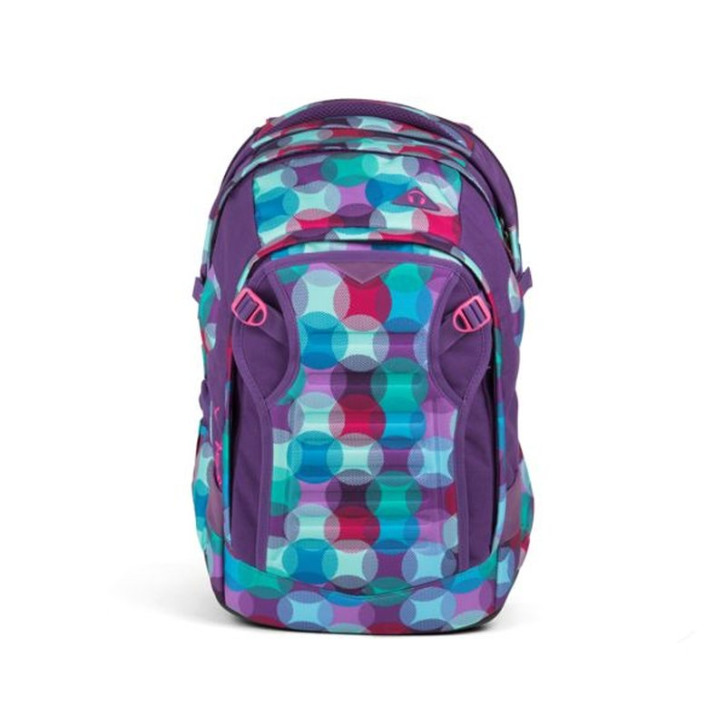 Satch Match Schulrucksack Hurly Pearly pink lila türkis