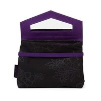 Satch Klatsch Beauty Wallet Purple Hibiscus schwarz lila